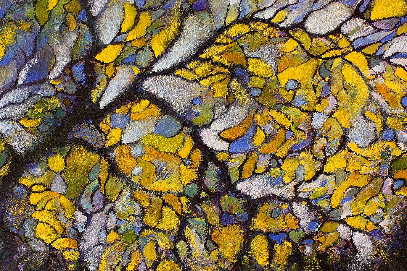 Detail of Autumnal - painted by Alan Moloney - A detailed view of Autumnal
