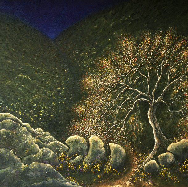 Dusk - painted by Alan Moloney - 102cm x 102cm . Oil on Canvas