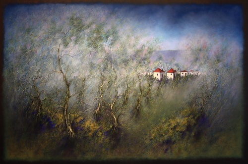 Hometown - painted by Alan Moloney - 102cm x 153cm - Oil on Canvas