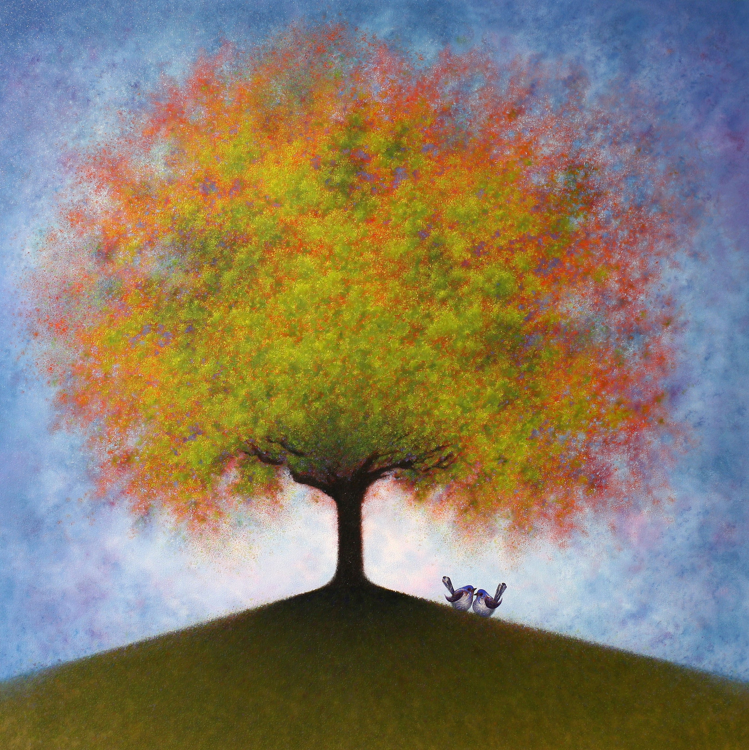 Jac's Tree of Life - painted by Alan Moloney - 102cm x 102cm . Oil on Canvas